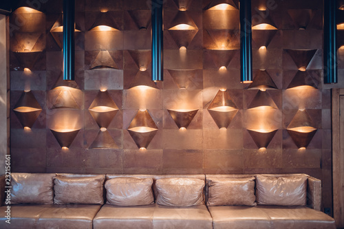 Copper clad interior wall texture background