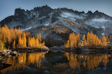 Scenic View Of Mountain Reflecting In Lake