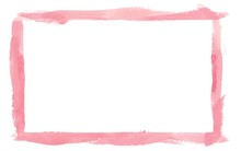 Pink Watercolor Border Frame