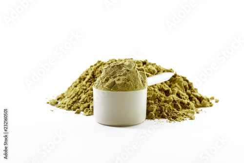 Post workout plant based muscle recovery hemp protein for vegans, bodybuilders and athletes Fototapeta