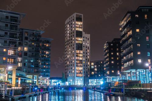 Photo Leeds Clarence Dock At Night