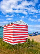 Beach Huts At Littlestone, Kent, England