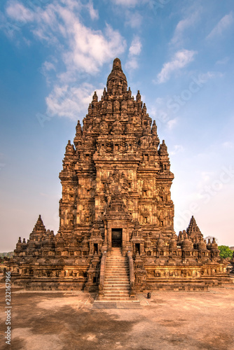 Foto op Aluminium Bedehuis Main shrine dedicated to Shiva, Prambanan temple complex, Yogyakarta, Java, Indonesia