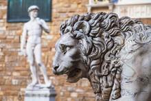 Sculptures In Piazza Della Sig...
