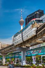 KL Monorail Train, Kuala Lumpu...
