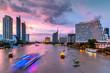 Chao Phraya River and city skyline, Bangkok, Thailand