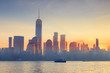 USA, New York, Manhattan, Lower Manhattan and World Trade Center, Freedom Tower, viewed from New Jersey, Jersey City