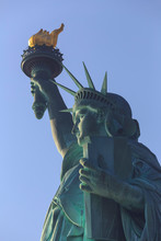Statue Of Liberty Against Clear Sky, New York City