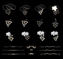 Set Of Grapes Illustration