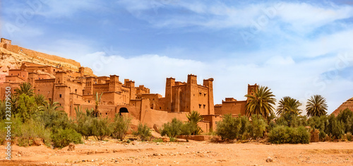 Printed kitchen splashbacks Morocco Kasbah Ait Ben Haddou near Ouarzazate Morocco. UNESCO World Heritage Site
