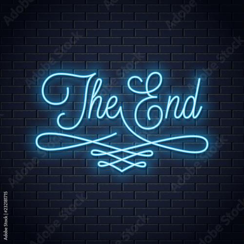 Fotografía  The end neon sign
