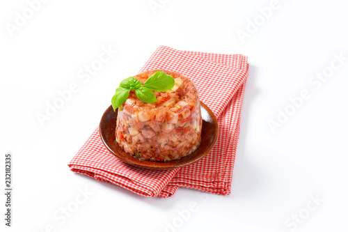 Pork meat in aspic Canvas Print