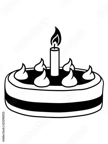 Schwarz Geburtstag Lecker Backen Hunger Naschen Torte Kuchen