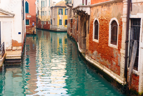 Spoed Foto op Canvas Venetie Colourful and relaxing canal in Venice