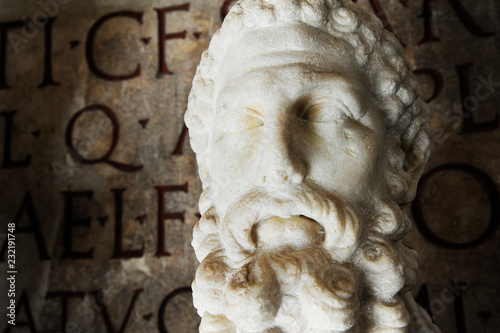 Photo  Bust of imperator Commodus in the Capitoline Museum in Rome