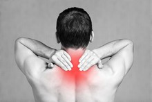Strong Man With Neck Pain, Bac...