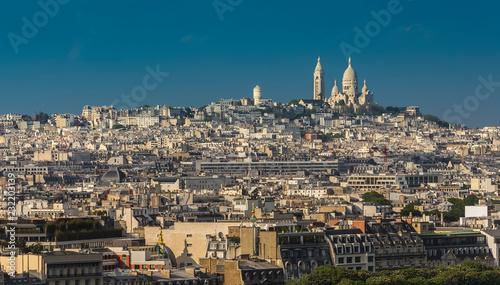 ninth district of Paris and Basilique du Sacre Coeur фототапет