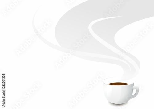 Fototapeta modern stylish background with coffee cup and coffee aroma obraz
