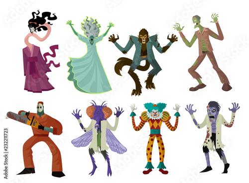 evil monsters creatures Canvas Print