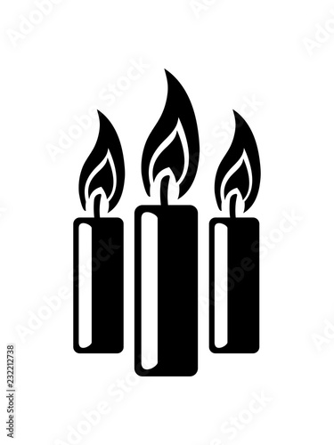 Cool 3 Kerzen Flamme Feuer Kerze Wachs Brennen Dekorativ Design