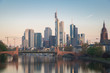 Skyline of Frankfurt city in Germany. Frankfurt is financial center city of Germany..