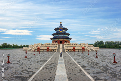 Canvas Prints Peking Wonderful and amazing Beijing temple - Temple of Heaven in Beijing, China. Hall of Prayer for Good Harvest..