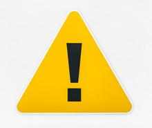 Yellow Triangle Warning Sign I...