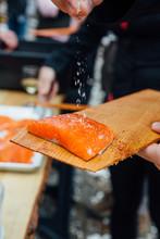 Salted Salmon Prep