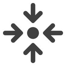 Meeting Point Icon On A White ...