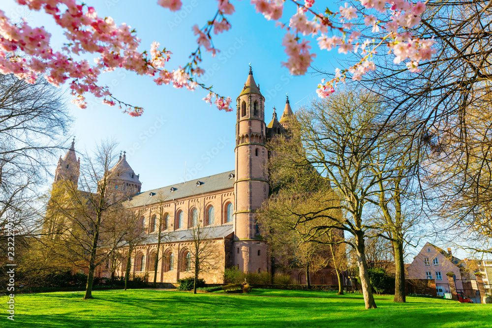 Fototapety, obrazy: historical Worms Cathedral in Worms, Germany