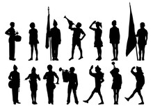 Silhouettes Pioneers Scouts Te...
