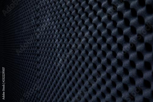 Fotografia, Obraz  Soundproof wall in sound studio, background of sound absorbing sponge