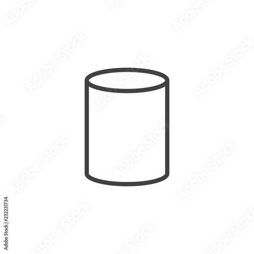 Cuadros en Lienzo  Cylinder geometrical figure outline icon