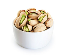 Bowl With Pistachios Isolated ...