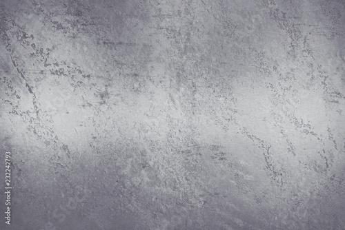 Tuinposter Stenen Brushed steel plate background texture horizontal