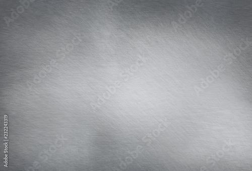 Türaufkleber Metall Brushed steel plate background texture horizontal