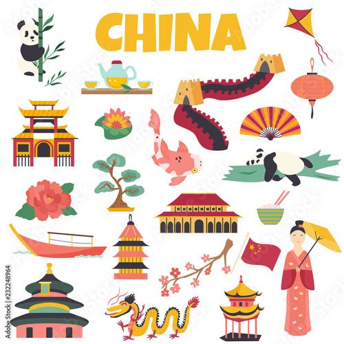 Obraz na plátně  Chinese Landmarks Architecture Symbol Famous Place