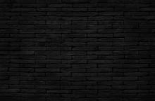 Old Dark Black Brick Wall Text...