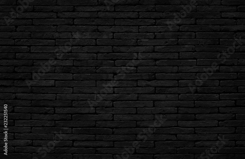 Foto op Plexiglas Historisch geb. Old dark black brick wall texture with vintage style for background and design art work.
