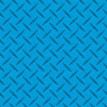 Bright Blue Diamond Plate Meta...
