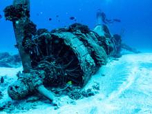 Underwater Plane Wreck From World War 2 - Scuba Diving In Oahu, Hawaii