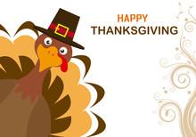 Thanksgiving Day Card. Turkey ...