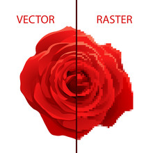 Example Of Vector And Raster Comparison, Difference Between Formats