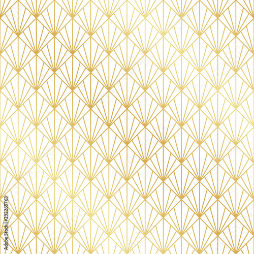 Photo  Seamless gold Art Deco pattern