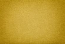 Golden Matt Suede Fabric Closeup. Velvet Texture.