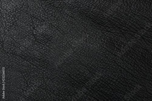 Fotografie, Obraz  Black leather texture