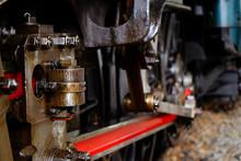 Closeup Wheels Of The Train