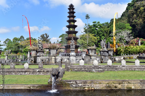 Photo  BALI TIRTA GANGGA PARK is a recreational garden in East Bali, Indonesia, derived