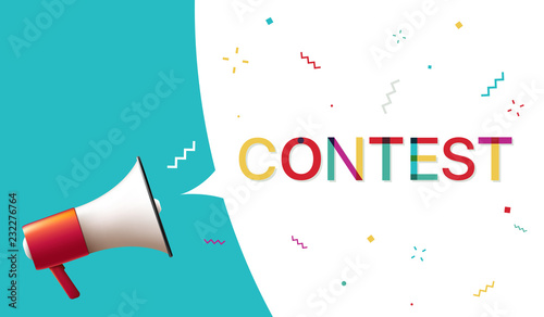 Megaphone with Contest Speech Bubble Fototapete