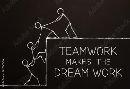 Valokuva Teamwork Makes The Dream Work Concept